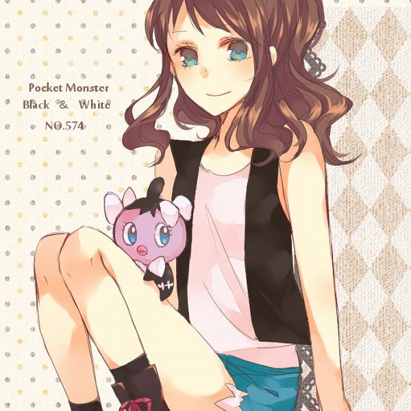 Tags: Anime, Kazuto (artist), Pokémon, Gothita, Touko (Pokémon), Hilda (pokemon)