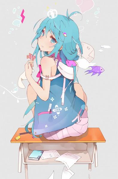 Tags: Anime, Evers, Denpa Onna to Seishun Otoko, Touwa Erio, Ruler, Mobile Wallpaper, Pixiv, Fanart
