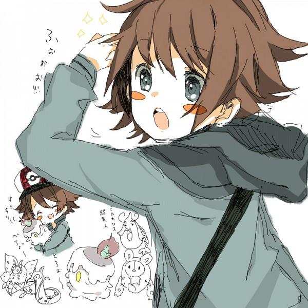 Tags: Anime, Pokémon, Serperior, Litwick, Reuniclus, Touya (Pokémon), Milotic, Volcarona, Hilbert (pokémon)