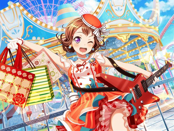 Tags: Anime, Craft Egg, BanG Dream! Girls Band Party!, Toyama Kasumi, Official Card Illustration, Official Art