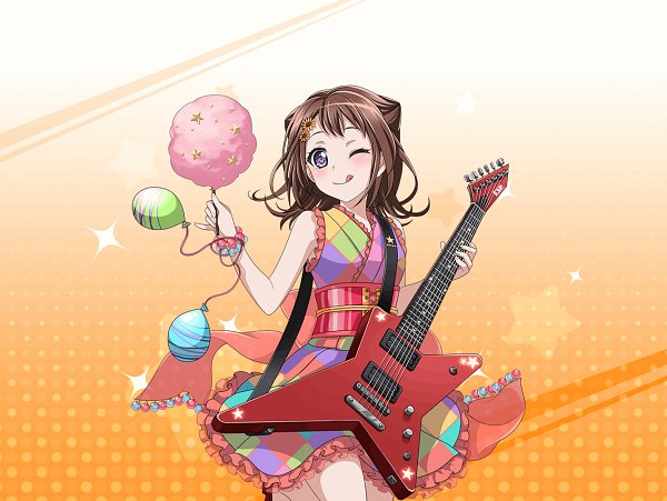 Tags: Anime, Craft Egg, BanG Dream!, BanG Dream! Girls Band Party!, Toyama Kasumi, Cotton Candy, Official Art, Official Card Illustration