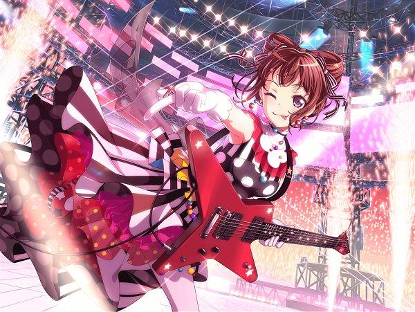 Tags: Anime, Craft Egg, BanG Dream! Girls Band Party!, BanG Dream!, Toyama Kasumi, Official Art, Official Card Illustration