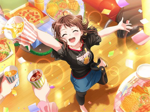 Tags: Anime, Craft Egg, BanG Dream! Girls Band Party!, BanG Dream!, Toyama Kasumi, Official Card Illustration, Official Art
