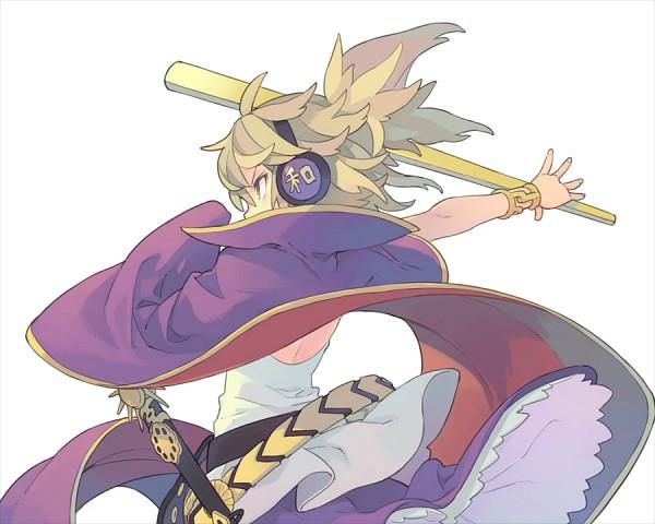 Tags: Anime, Morino Hon, Touhou, Toyosatomimi no Miko, Shichi-sei Ken, Ritual Baton, PNG Conversion, Twitter, Fanart