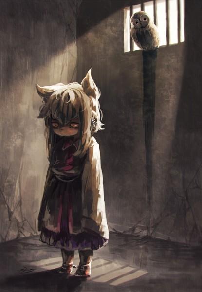 Tags: Anime, Koto Inari, Touhou, Toyosatomimi no Miko, Jail, Prisoner, Tumblr, Fanart, Mobile Wallpaper, PNG Conversion, Twitter