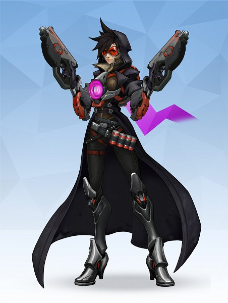 Tags: Anime, Neexz, Overwatch, Tracer, Reaper (Overwatch) (Cosplay), Fanart From DeviantART, deviantART, Fanart