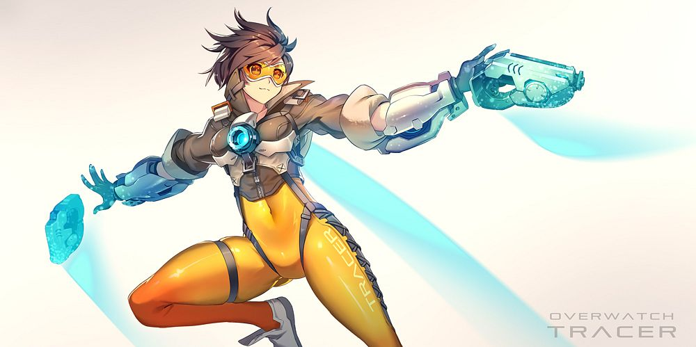 Tags: Anime, Pixiv Id 843975, Overwatch, Tracer, Fanart From Pixiv, Pixiv, Fanart