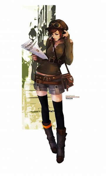 Tags: Anime, MonoriRogue, Overwatch, Tracer, Newspaper, Handbag, deviantART