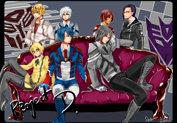 Tags: Anime, Pixiv Id 643708, Transformers, Barricade (Transformers), Starscream, Skyfire (Transformers), Megatron, Bumblebee, Optimus Prime, Ultra Magnus, Mecha (Personification), Pixiv, Autobots