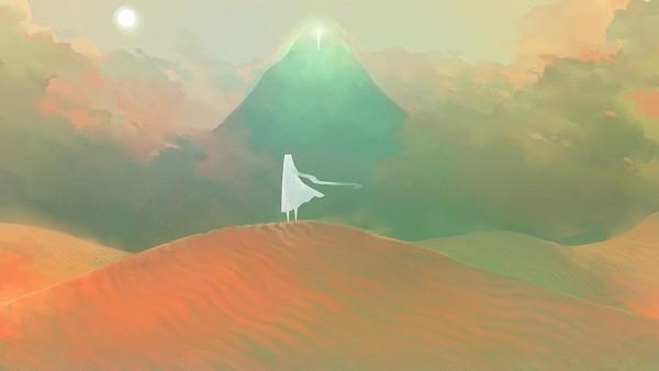 Tags: Anime, Lanimalu, Journey (Game), Traveler, Desert, Wallpaper, Facebook Cover