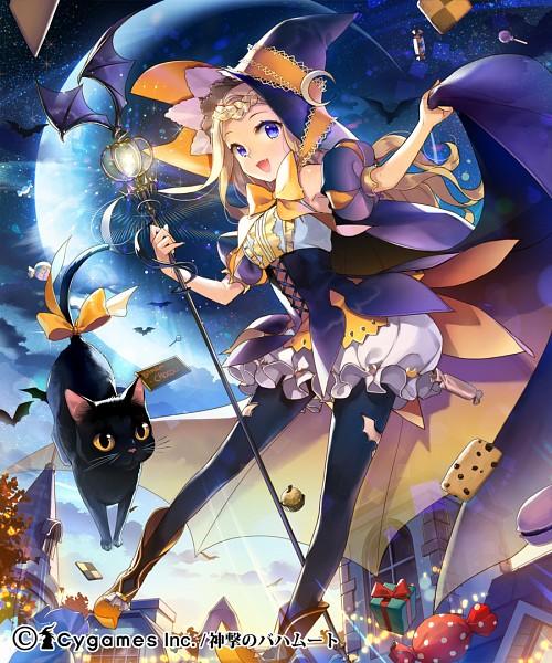 Tags: Anime, Salty, Cygames, Shingeki no Bahamut, Trick Witch, Familiar (Mythology), Puffy Shorts, Koumorimimi, Pixiv