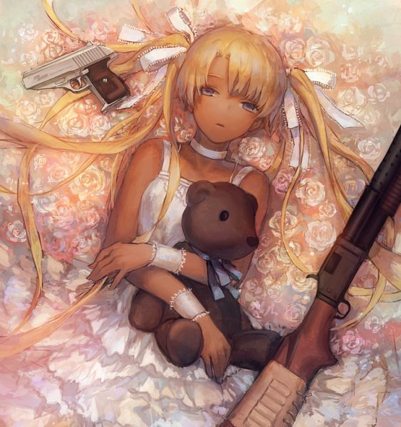 Tags: Anime, Pixiv Id 1633945, Gunslinger Girl, Triela, Shotgun, PNG Conversion