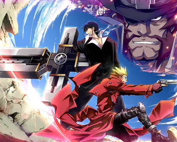 Tags: Anime, Trigun, Nicholas D. Wolfwood, Vash the Stampede, Cannon