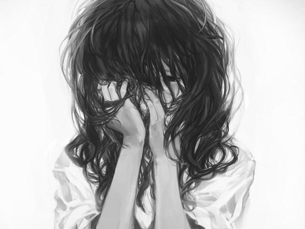 Tags: Anime, Trm Tsuruma, Covering Face, Pixiv