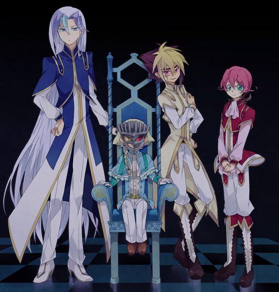 Tags: Anime, Tsutsumi (Trmacd), Yu-Gi-Oh! ZEXAL, Yu-Gi-Oh!, III (Yu-Gi-Oh! ZEXAL), Byron Arclight, V (Yu-Gi-Oh! ZEXAL), IV (Yu-Gi-Oh! ZEXAL), Pixiv, Fanart From Pixiv, PNG Conversion, Fanart, Tron Family, Vetrix Family