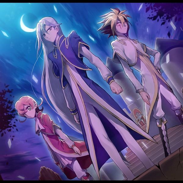 Tags: Anime, Yeonji, Yu-Gi-Oh! ZEXAL, Yu-Gi-Oh!, III (Yu-Gi-Oh! ZEXAL), Byron Arclight, V (Yu-Gi-Oh! ZEXAL), IV (Yu-Gi-Oh! ZEXAL), Sitting On Throne, Fanart, Pixiv, Tron Family, Vetrix Family
