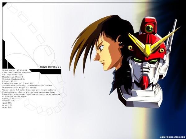 Tags: Anime, Mobile Suit Gundam Wing, Trowa Barton, Official Art, Wallpaper