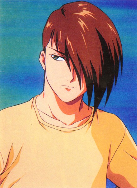Tags: Anime, Sunrise (Studio), Mobile Suit Gundam Wing, Trowa Barton, Scan, Official Art