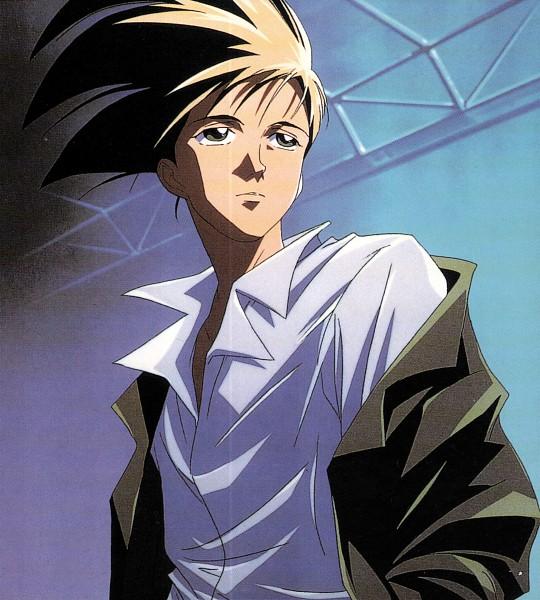 Tags: Anime, Sunrise (Studio), Mobile Suit Gundam Wing, Trowa Barton, Scan, Official Art