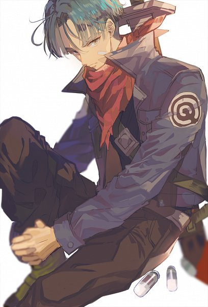 Tags: Anime, Pixiv Id 23240548, DRAGON BALL, DRAGON BALL Z, Trunks Briefs, Bandaged Cheek