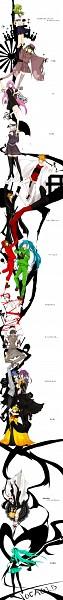 Tags: Anime, akinashi., Kagerou Project, GUMI, KAITO, Kagamine Len, Kagamine Rin, Kamui Gakupo, Hatsune Miku, Fan Character, Megurine Luka, Hanging Chain, DURARARA!! (Parody)