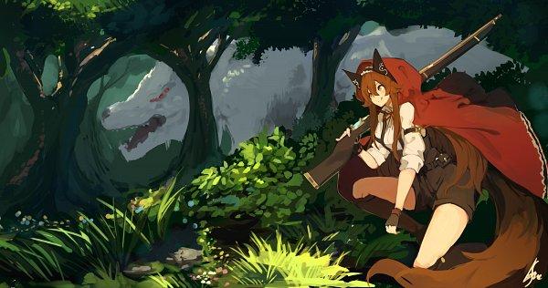 Tags: Anime, Lansane, Tsana, Shotgun, Pixiv, Original