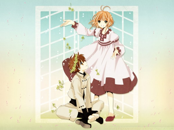 "Tags: Anime, Tsubasa: TOKYO REVELATIONS, Tsubasa: RESERVoir CHRoNiCLE, Princess ""Sakura"", Li ""Syaoran"", Wallpaper, Vector"