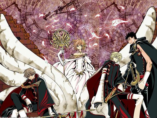 Tags: Anime, CLAMP, Tsubasa: RESERVoir CHRoNiCLE, Fay D. Flourite, Kurogane, Princess Sakura, Li Syaoran (TRC), Wallpaper