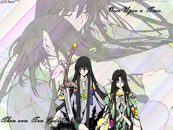 Tags: Anime, Tsubasa: RESERVoir CHRoNiCLE, Yasha-ou (TRC), Ashura-ou (TRC), Wallpaper, Colorization
