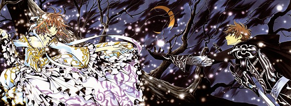 Tags: Anime, CLAMP, Tsubasa: RESERVoir CHRoNiCLE, Tsubasa Album de Reproductions, Princess Sakura, Li Syaoran (TRC), Scan, Official Art