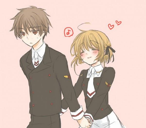 Tags: Anime, Pixiv Id 358475, Tsubasa: RESERVoir CHRoNiCLE, Princess Sakura, Li Syaoran (TRC), Sketch, Fanart