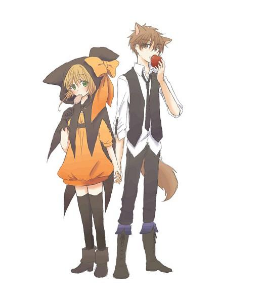 Tags: Anime, Pixiv Id 358475, Tsubasa: RESERVoir CHRoNiCLE, Li Syaoran (TRC), Princess Sakura, Orange Dress, Fanart