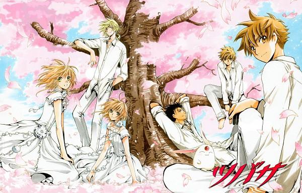 "Tags: Anime, CLAMP, Tsubasa: TOKYO REVELATIONS, Tsubasa: RESERVoir CHRoNiCLE, Tsubasa Album De Reproductions 2, Fay D. Flourite, Li ""Syaoran"", Kurogane, Mokona Modoki, Princess Sakura, Li Syaoran (TRC), Princess ""Sakura"", Official Art"