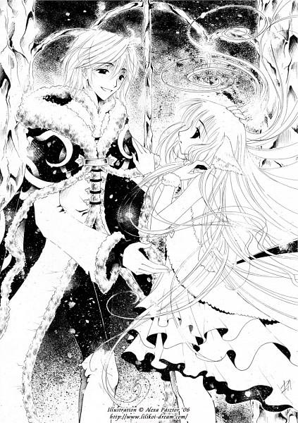 Tags: Anime, Luleiya, Tsubasa: RESERVoir CHRoNiCLE, Chii (TRC), Fay D. Flourite, deviantART, Mobile Wallpaper, Fanart