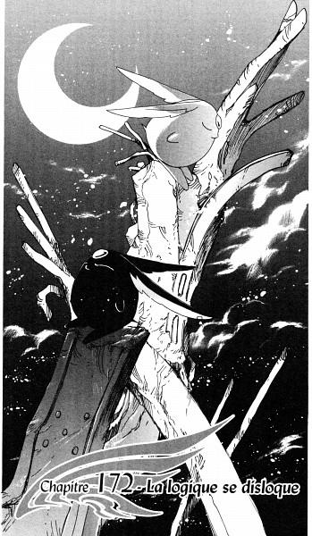 Tags: Anime, CLAMP, xxxHOLiC, Tsubasa: RESERVoir CHRoNiCLE, Mokona Modoki (Black), Mokona Modoki, Mobile Wallpaper, Chapter Cover, Scan, Official Art, Manga Page