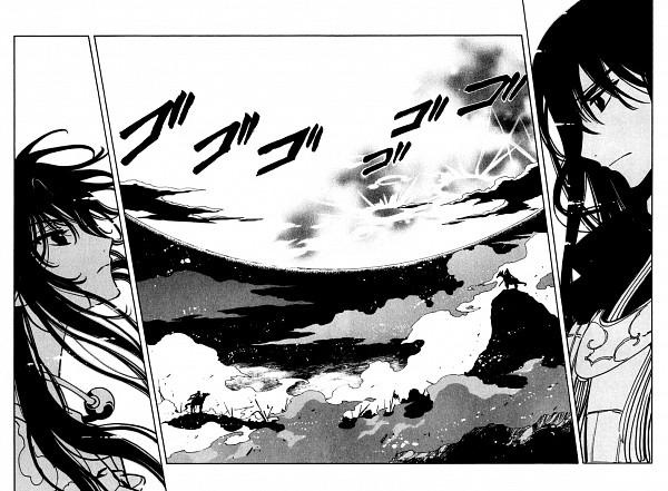 Tags: Anime, CLAMP, Tsubasa: RESERVoir CHRoNiCLE, Yasha-ou (TRC), Ashura-ou (TRC), War, Scan, Manga Page