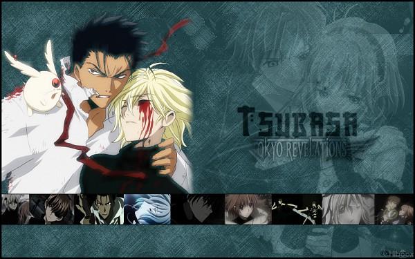 Tags: Anime, Tsubasa: TOKYO REVELATIONS, Tsubasa: RESERVoir CHRoNiCLE, Kurogane, Mokona Modoki, Fay D. Flourite, Wallpaper