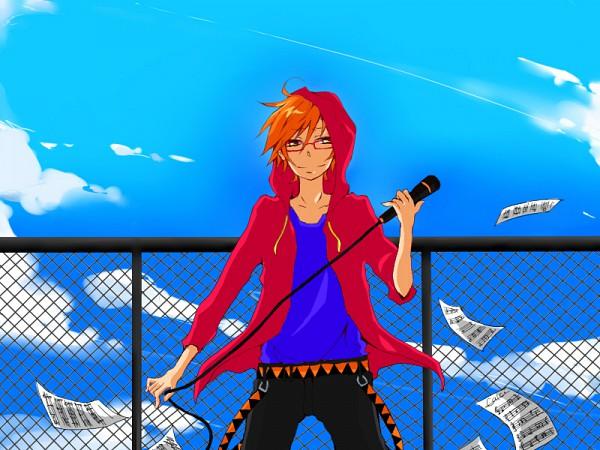 Tags: Anime, UTAU, Tsuine Owata, Chain Link Fence, Sheet Music, Pixiv