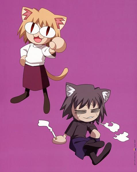 Tags: Anime, Takeuchi Takashi, French-Bread (Studio), Type-MOON Comic Illust Book, Melty Blood, Tsukihime, Neco-Arc Chaos, Neco-Arc, Official Art, Lunar Legend Moon Princess