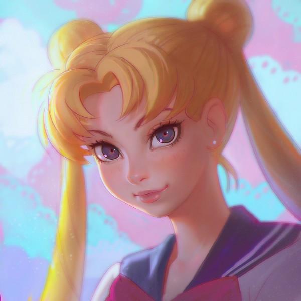 Tags: Anime, Ilya Kuvshinov, Bishoujo Senshi Sailor Moon, Tsukino Usagi, Sailor Moon (Character), Fanart From Pixiv, deviantART, Fanart, Pixiv