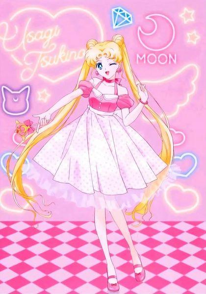 Tags: Anime, Bishoujo Senshi Sailor Moon, Tsukino Usagi, Neon Sign, Artist Request, Official Art
