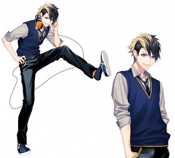 Tags: Anime, Fujiwara Ryo, honeybee, DYNAMIC CHORD, Tsukinohara Kuon, PNG Conversion, Official Art