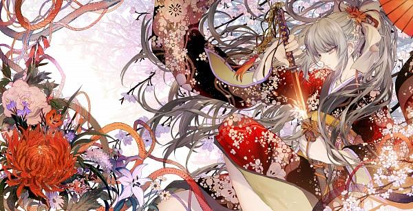 Tags: Anime, Tsukioka Tsukiho, Chrysanthemum, Pixiv, Original, Facebook Cover