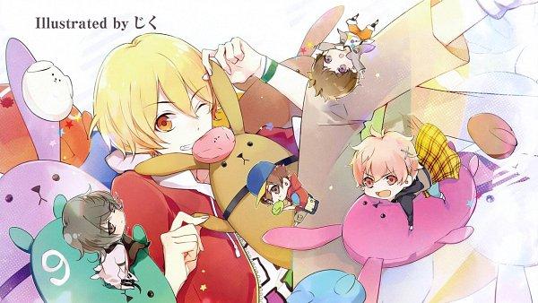 Tags: Anime, Tsukiuta, Shiwasu Kakeru, Minazuki Rui, Kisaragi Koi, Kannaduki Iku, End Cards, Wallpaper