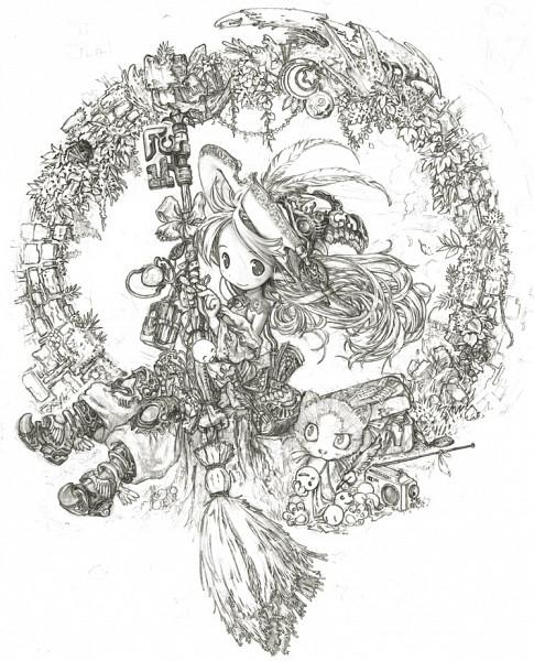 Tags: Anime, Tsukushi, Quill Pen, Teru Teru Bouzu, Drawing (Action), Pixiv