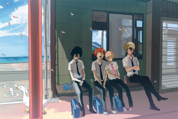 Tags: Anime, Pixiv Id 1809298, Tsuritama, Tapioca, Yamada Akira Agarkar, Usami Natsuki, Sanada Yuki, Haru (Tsuritama), Turban, Pixiv, Fanart, Fanart From Pixiv