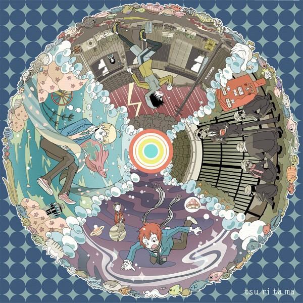 Tags: Anime, Cha-bang, Tsuritama, Sanada Yuki, Usami Sakura, Haru (Tsuritama), Tapioca, Yamada Akira Agarkar, Usami Natsuki, Kate (Tsuritama), Turban, Pixiv, Fanart