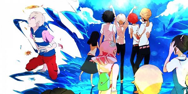 Tags: Anime, Pixiv Id 614152, Tsuritama, Yamada Akira Agarkar, Usami Natsuki, Kate (Tsuritama), Sanada Yuki, Usami Sakura, Haru (Tsuritama), Coco (Tsuritama), Pixiv, Wallpaper, Fanart
