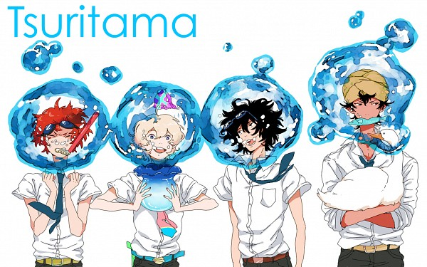Tags: Anime, Pixiv Id 2641642, Tsuritama, Sanada Yuki, Haru (Tsuritama), Tapioca, Yamada Akira Agarkar, Usami Natsuki, Fish Bowl, Snorkel, Water Gun, Fanart From Pixiv, Fanart