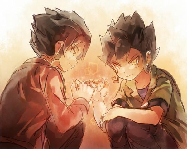 Tags: Anime, Pixiv Id 534010, Inazuma Eleven, Inazuma Eleven GO, Inazuma Eleven GO Chrono Stone, Tsurugi Yuichi, Tsurugi Kyousuke, Pixiv, Fanart, Fanart From Pixiv, Tsurugi Brothers